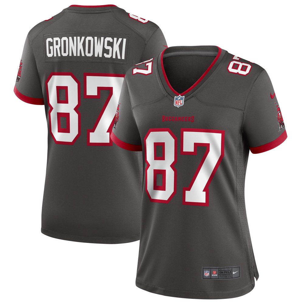 Women's Nike Rob Gronkowski Pewter Tampa Bay Bucca nfl youngboy football jersey
