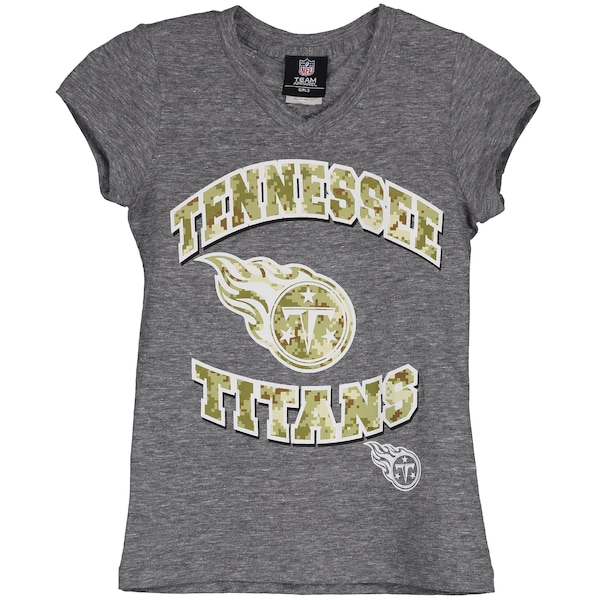 Girls Youth Tennessee Titans New Era Gray Tri-Blen what company makes nfl jerseys