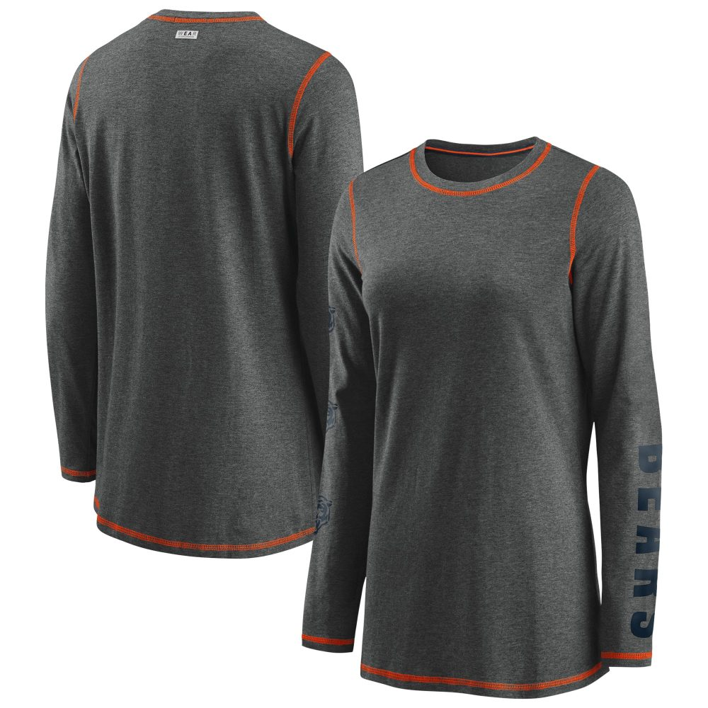 Women's WEAR By Erin Andrews Heathered Charcoal Ch Chicago Bears jerseys