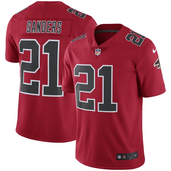Men's Atlanta Falcons Deion Sanders Nike Red Color nfl jersey with your own name
