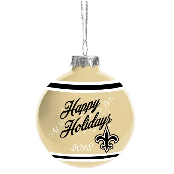 New Orleans Saints 2018 Happy Holidays Glass Ball  best selling nfl jerseys by state