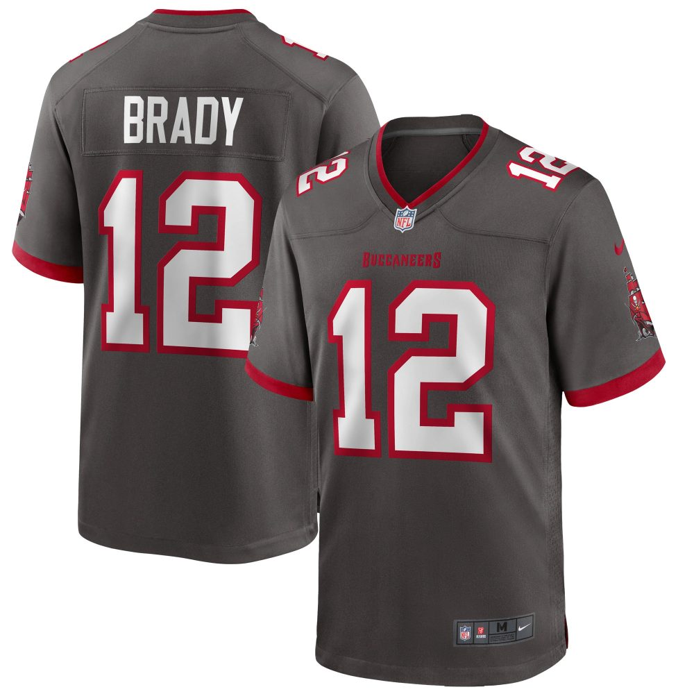 Men's Nike Tom Brady Pewter Tampa Bay Buccaneers A nfl cleveland cavaliers jersey