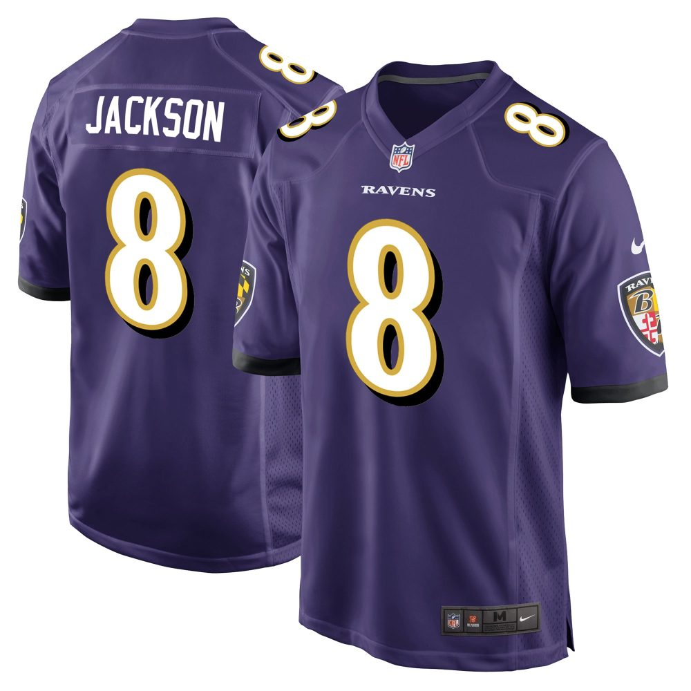 Baltimore Ravens Home Game Jersey - Lamar Jackson how much does an nfl jersey weigh